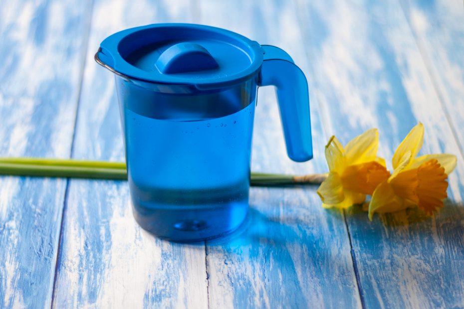 Blue Jug with blue lid