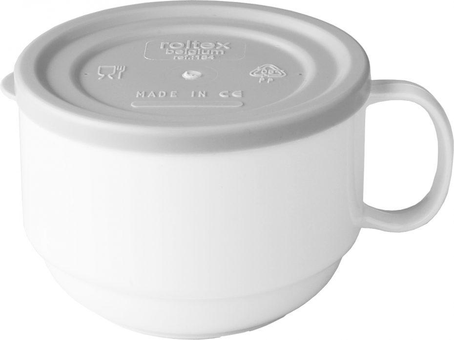 White Mug with a Grey Lid