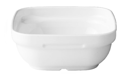White Square Salad Bowl