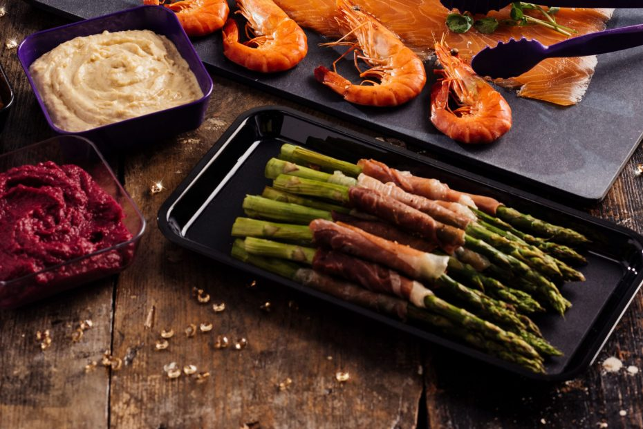 Asparagus on a Small Food Platter