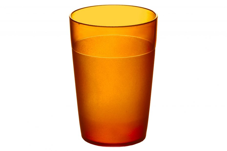 250ml Frosted Tumbler Orange