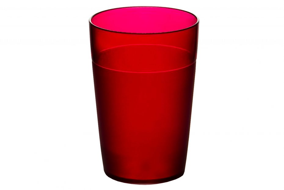 250ml Frosted Tumbler Red
