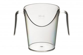 Two Handled Nose Cup Clear