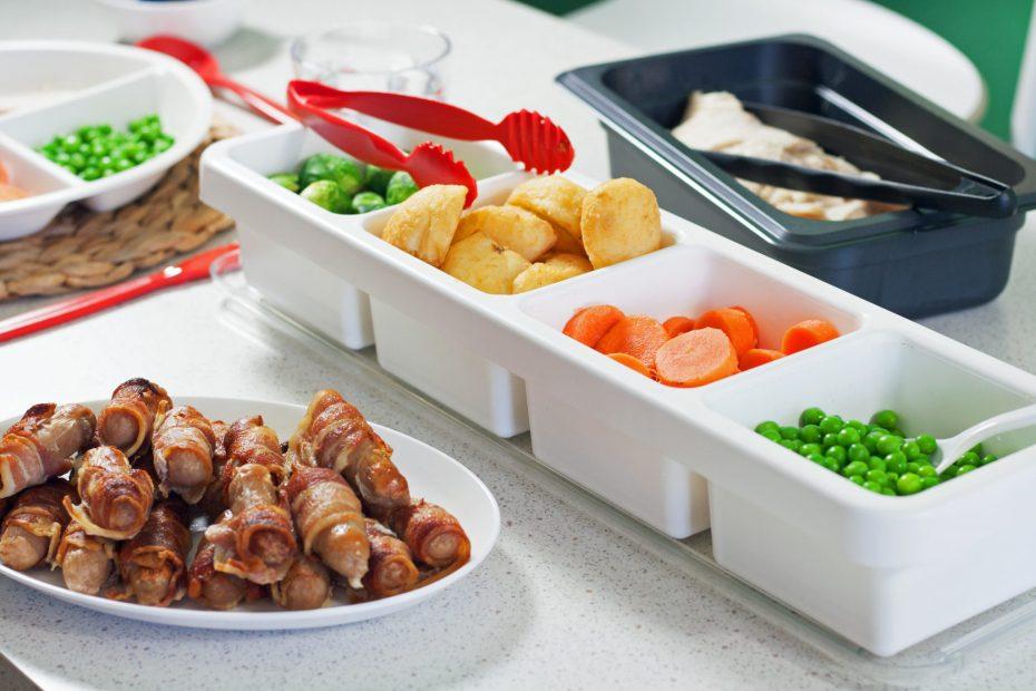Roast Dinner Self Service 4 Compartment Dish
