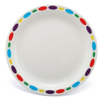 Large Patterned Duo Plate With Multicoloured Pebbles