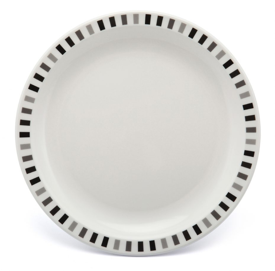 Black and Grey Stripe Plate