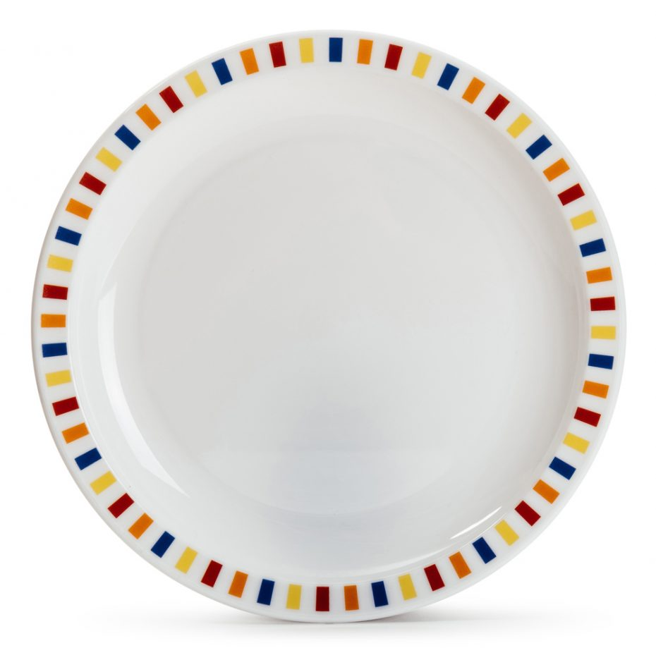 Multicolour Stripe Plate