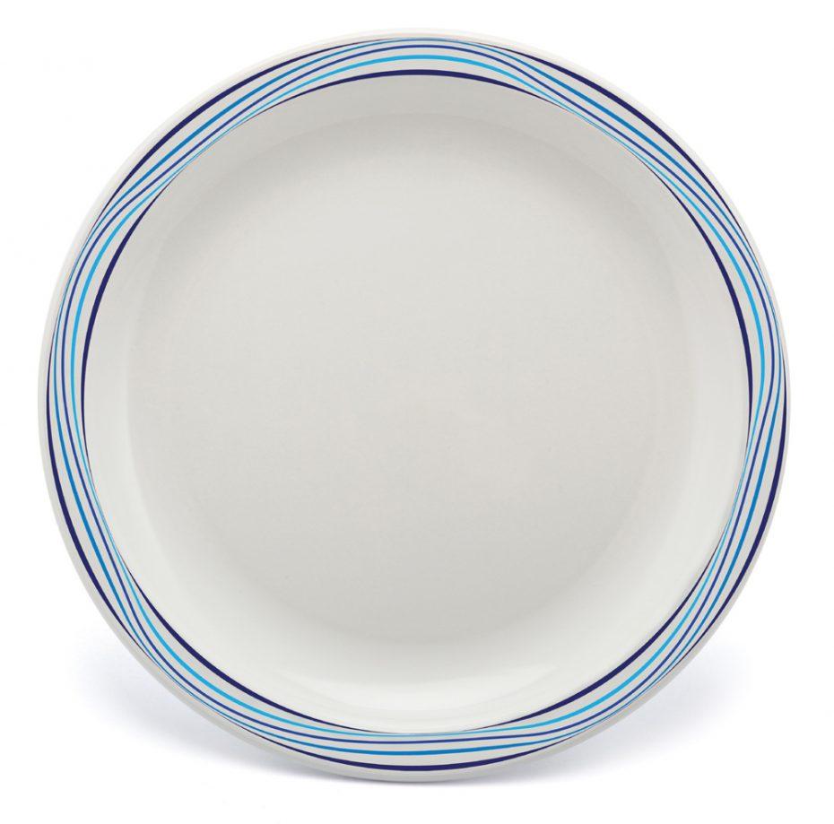 Multicolour Blue Swirl Pattern Plate