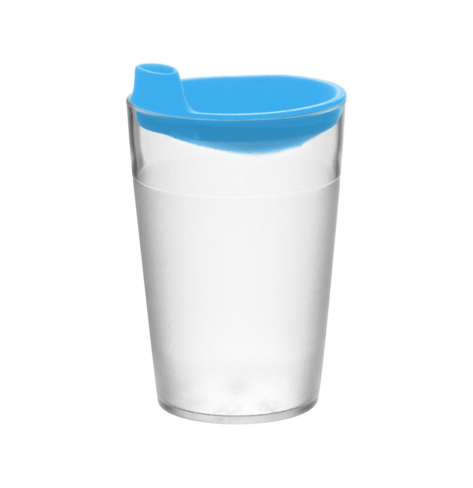 Blue Drinking Spout with Clear Tumbler