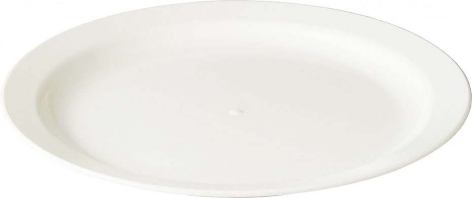 Large White Narrow Rimmed Plate