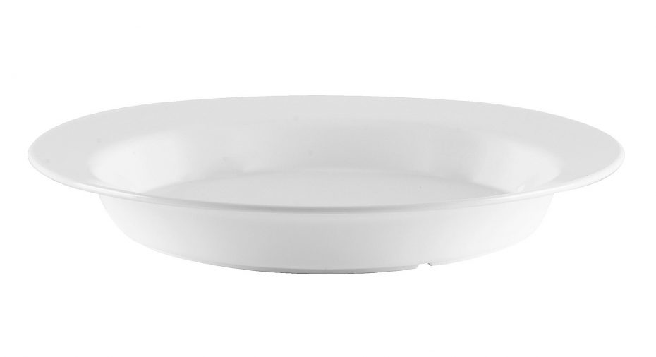 Large White Deep Plate