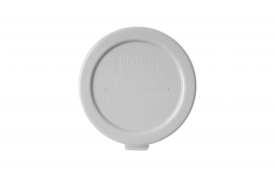Lid for Insulated Cup in Light Grey