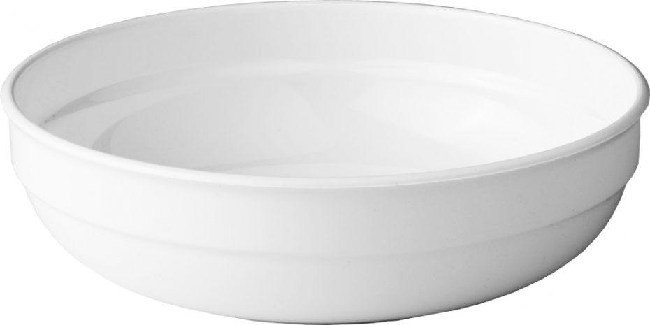 600ml White Round Bowl