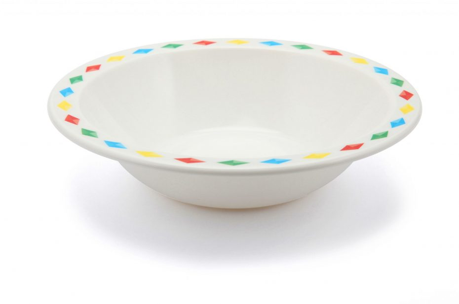 Bowl with Colourful Diamonds