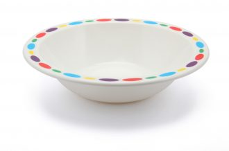Patterned Rim Duo Bowl