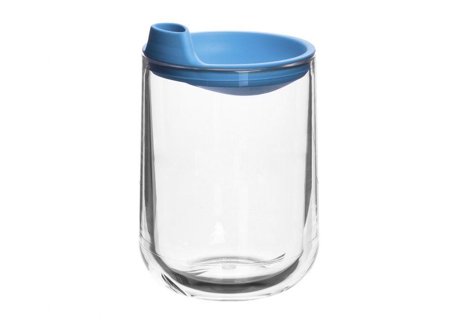 Aqua Tumbler with a Blue Spout