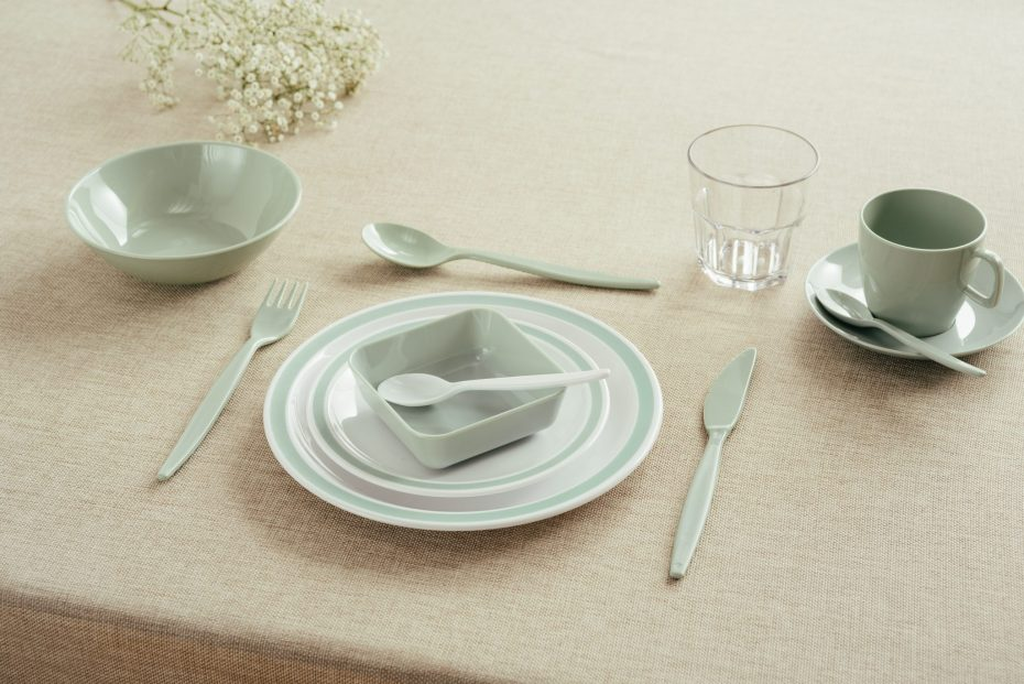 Grey Green Duo Dinnerware Range