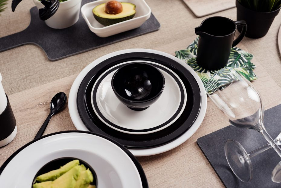 Black and White Monochrome Dinnerware
