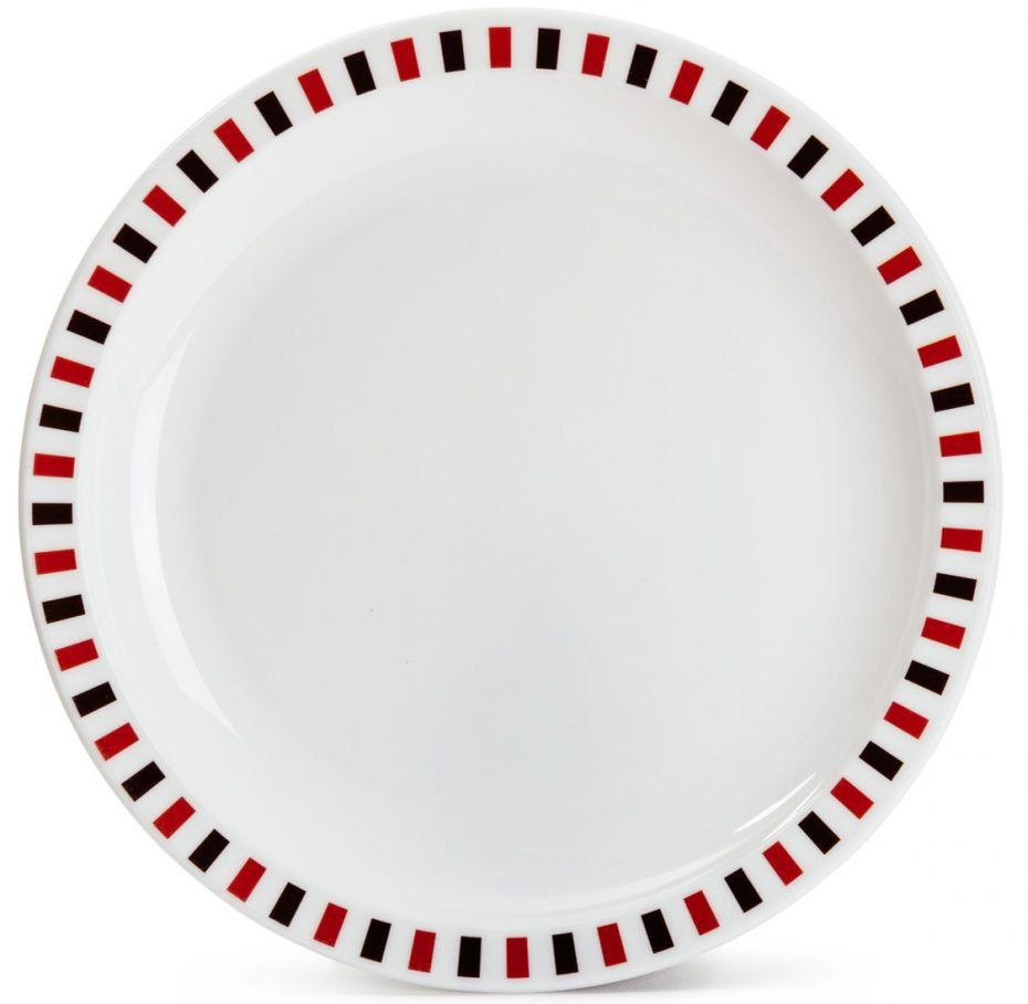 Black and Red Stripe Plate