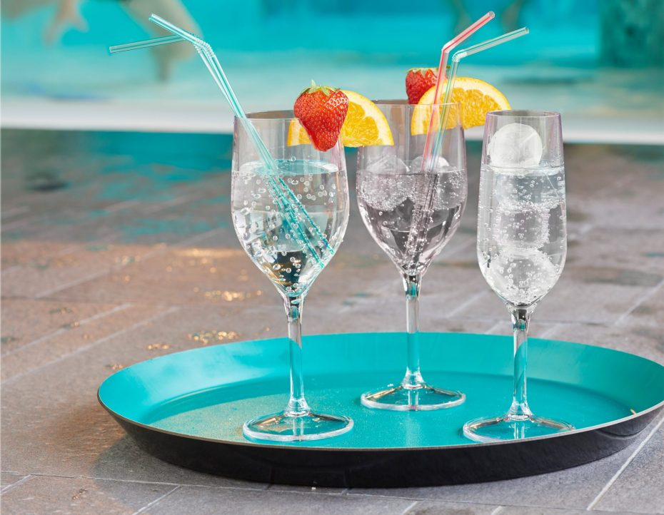 Holiday Cocktail in a Champagne Flute