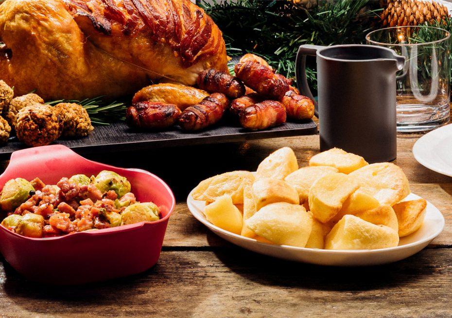 Roast Potatoes Served on an Oval Plate