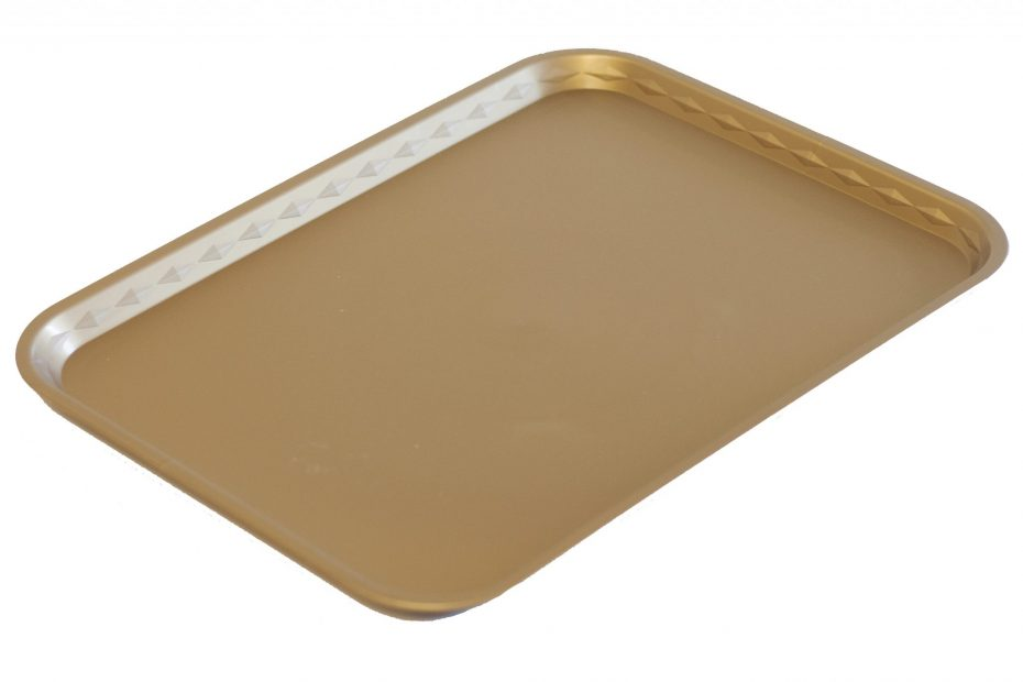 Gold Flat Serving Tray