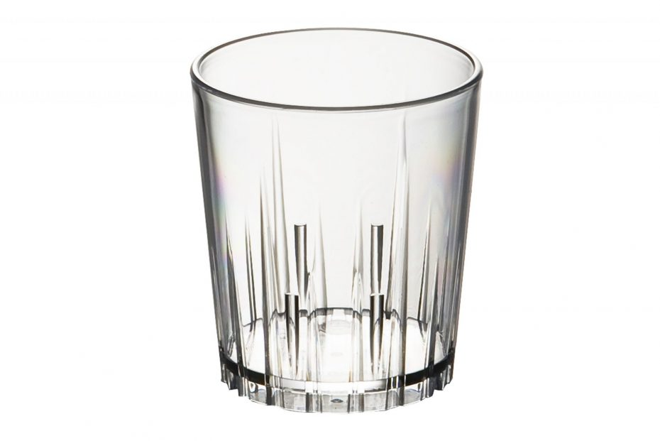 Small Star Fluted Glass