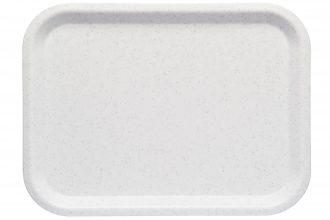 White Speckled Large ABS Serving Tray