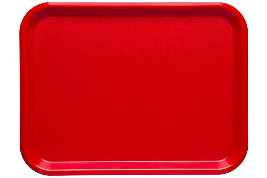 Cherry Red Large ABS Serving Tray