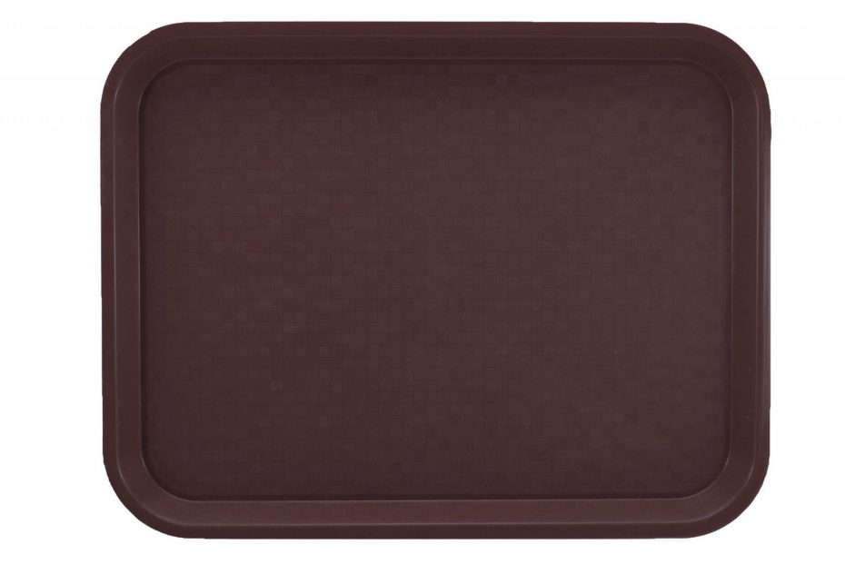 Small Brown Polypropylene Serving Tray