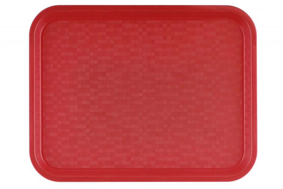 Small Red Polypropylene Serving Tray