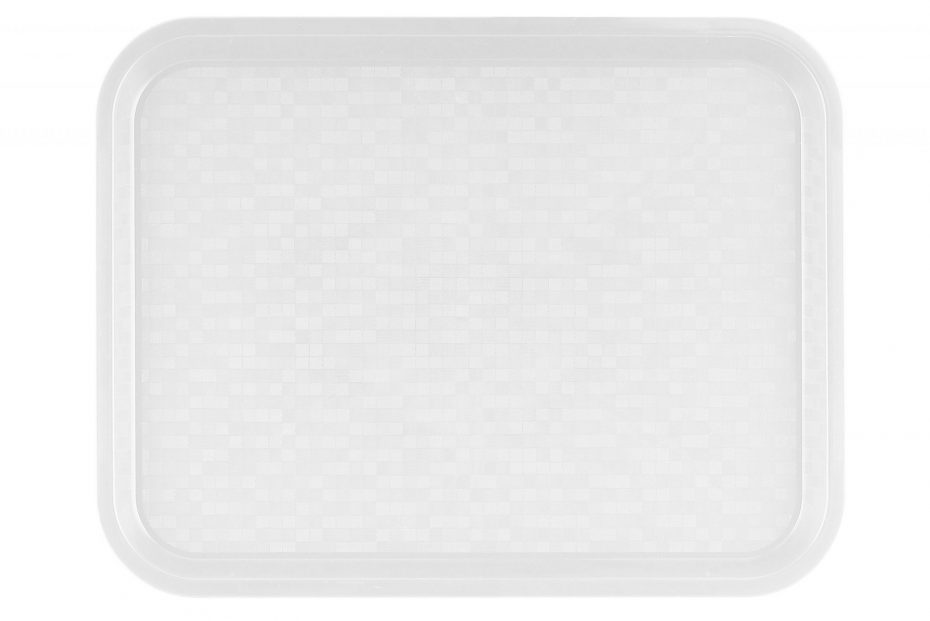Small White Polypropylene Serving Tray