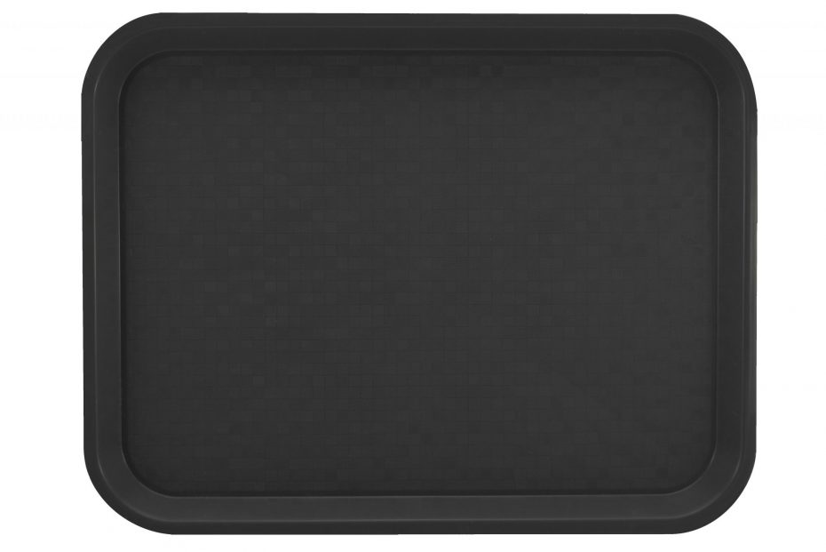 Large Black Polypropylene Serving Tray
