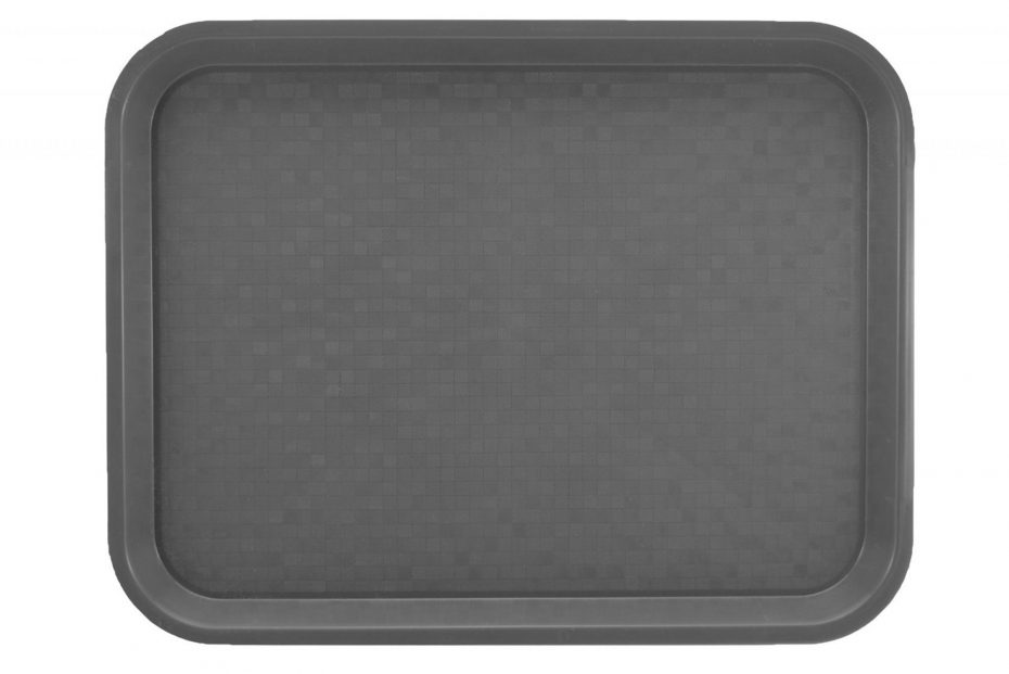 Large Dark Grey Polypropylene Serving Tray