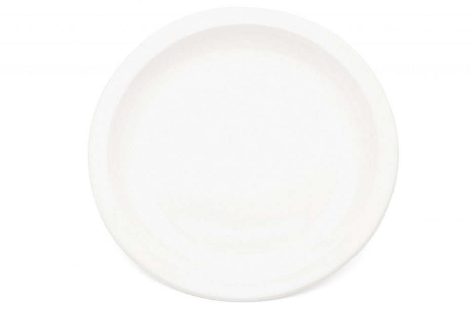 White Extra Large Dinner Plate