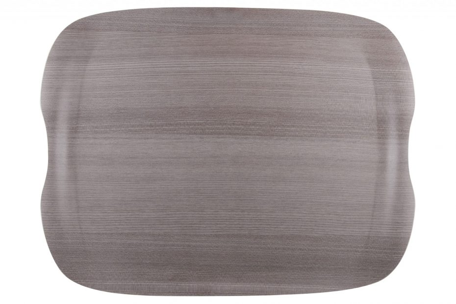 Grey Wood Large Earth Wave Tray