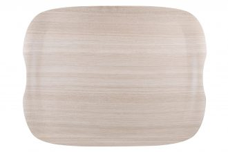 Light Wood Large Earth Wave Tray