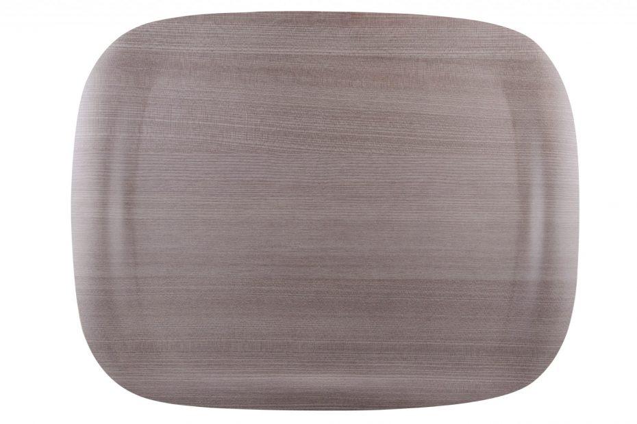 Grey Wood Earth Wave Art Tray