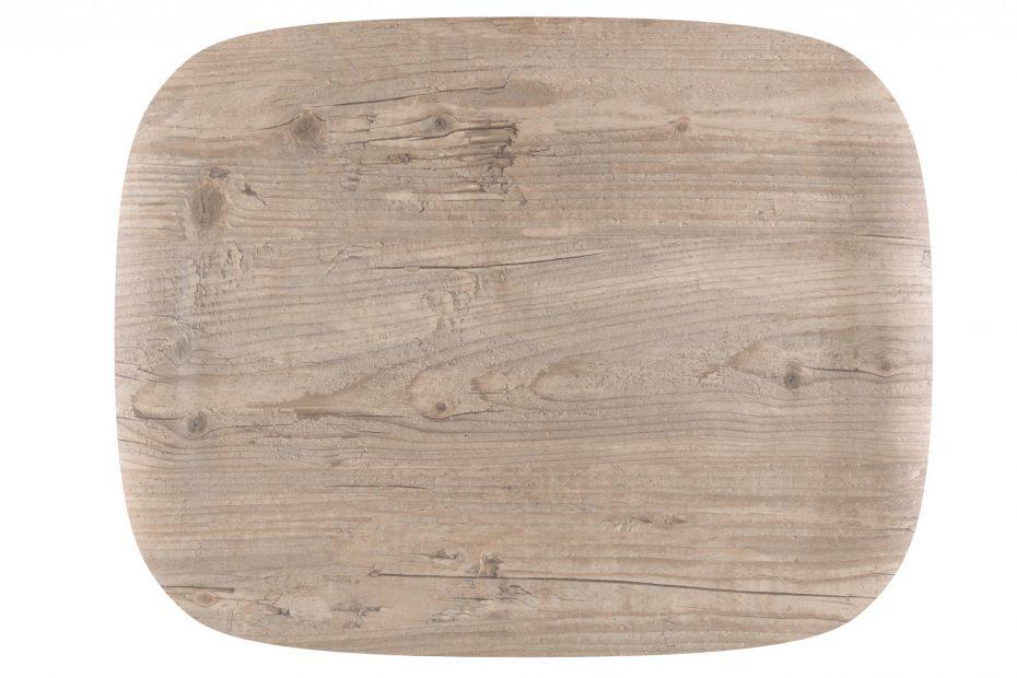 Vintage Wood Earth Wave Art Tray