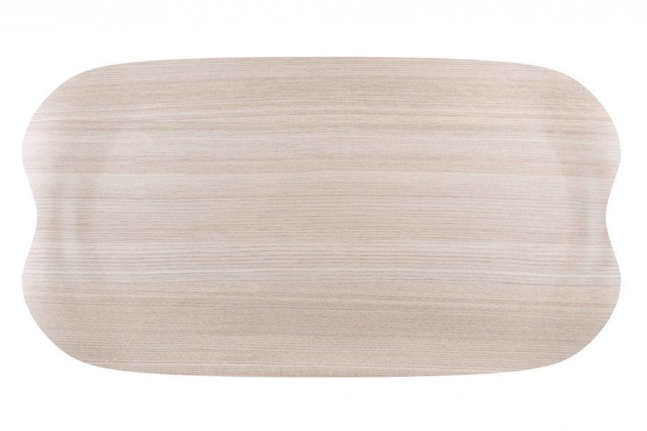 Light Wood Earth Wave Tray