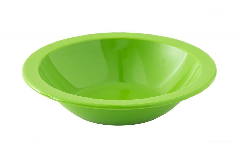 Bright Green Copolyester Narrow Rim Bowl