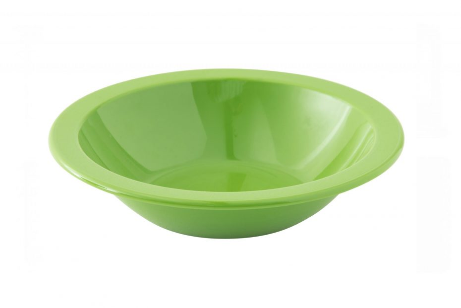 Bright Green Copolyester Narrow Rimmed Bowl