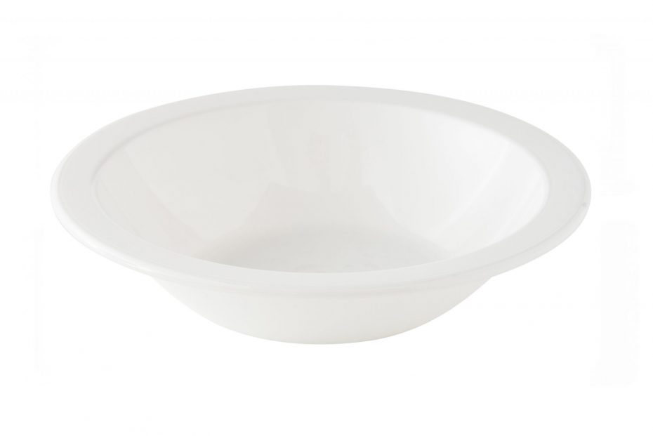 White Copolyester Narrow Rimmed Bowl