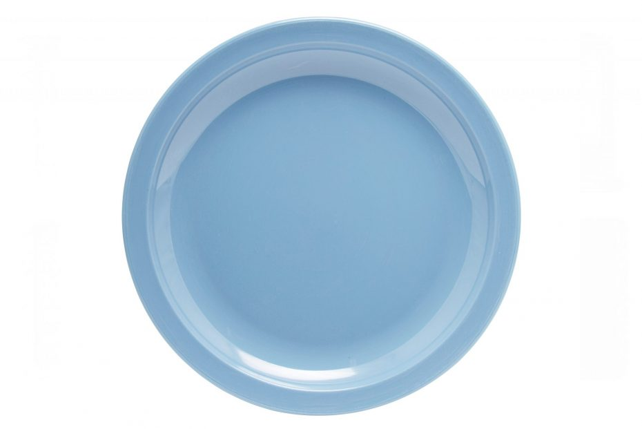 Sky Blue Large Copolyester Plate