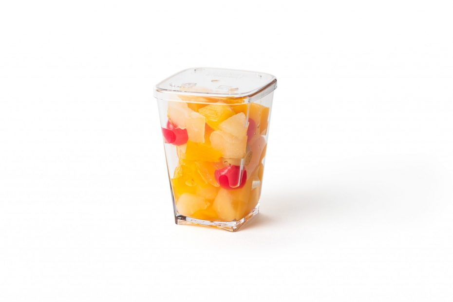 Dessert Pot with Lid and Fruit