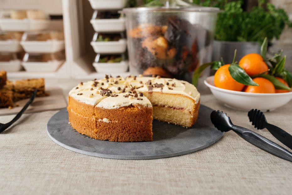 Carrot Cake Served on a Slate S-Plank