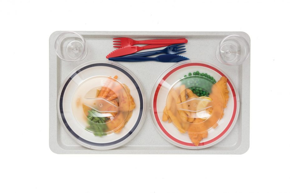 Large Gastronorm Tray with Dinner for Two