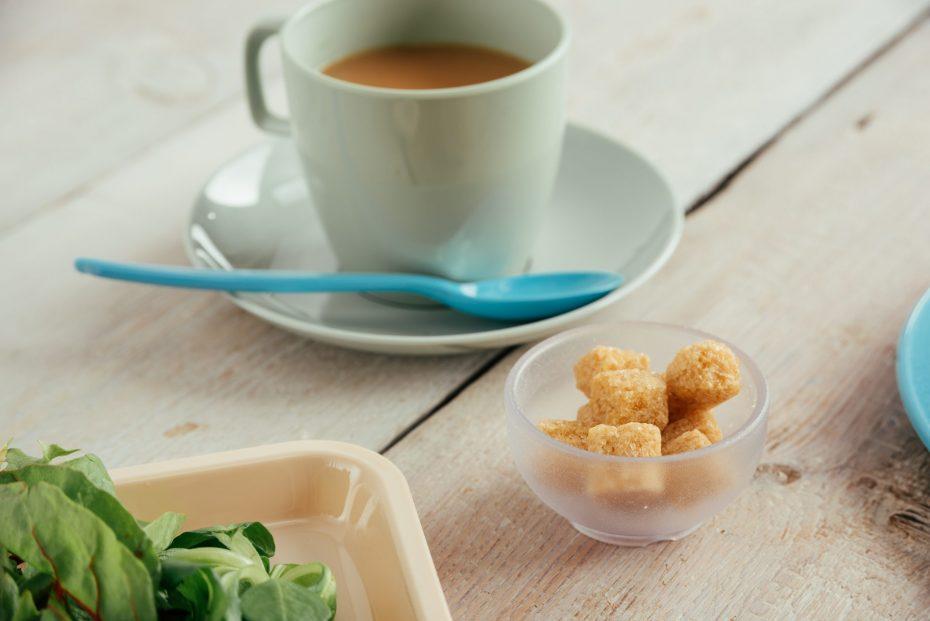 Blue Teaspoon on a Tea Saucer