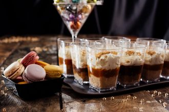 Individual Caramel Cheesecakes in Dessert Pots