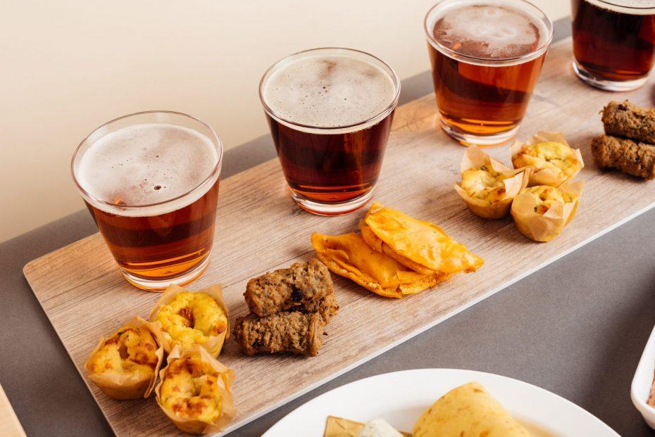 Beer Tasting Platter in Whisky Tumblers